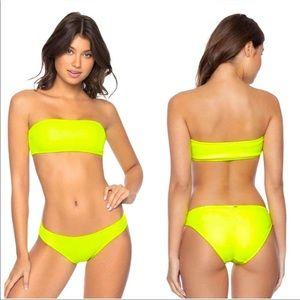 Pilyq Pineapple reef matching bikini set small